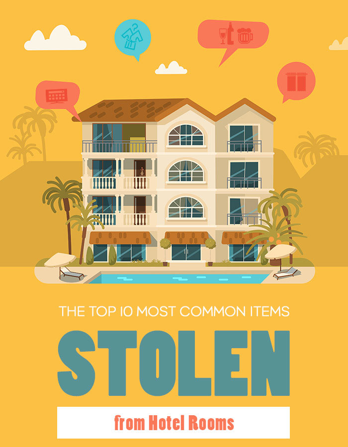 The Top 10 Most Common Items Stolen From Hotel Rooms