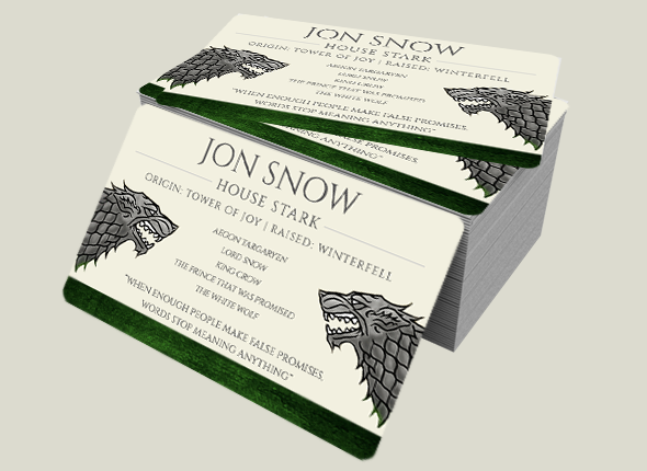 What if the game of thrones characters had business cards the replicate these plastic business cards for yourself and other game of thrones fans then visit our website today alternatively create your own business reheart Gallery